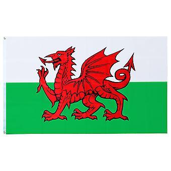 大規模なウェールズ国旗リング 90x150cm とスポーツ イベントおよび国民の祭典の TRIXES のバナーをぶら下げ