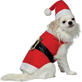 Huisdier pak Santa - grappige hond kerst kostuum