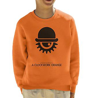 A Clockwork Orange Hat And Eye Movie Silhouette Kid's Sweatshirt