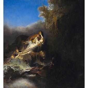Die Entführung von Proserpina, Rembrandt, 50x46cm
