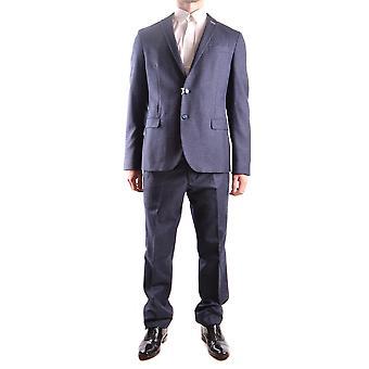 Manuel Ritz Ezbc128010 Men's Blue Cotton Suit