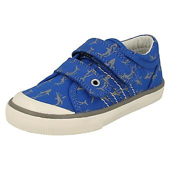 Boys Startrite Shark Detailed Canvas Shoes Wave