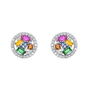 О, да! Ювелирные изделия кристалл из Сваровски мульти цвет коктейль Серьги