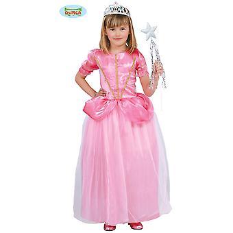 Costumes pour enfants robe de princesse rose pour les filles