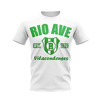 Rio Ave perustettiin jalka pallo T-paita (valkoinen)