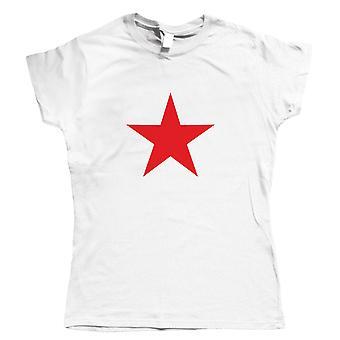 Roter Stern, Retro sowjetischen kommunistischen politischen Frauen T Shirt - Pop-Kultur-Geschenk Sie