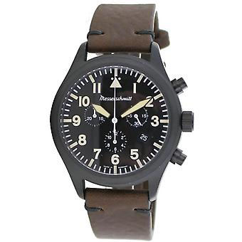 Aristo Men's Messerschmitt Watch stainless steel chronograph ME5030-44VS leather