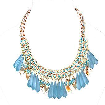 Dames kleurrijke druppeltjes stijl juweel verklaring Swarovski kristal ketting