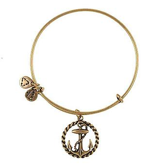 Alex and Ani Nautical Gold Bangle A09EB169RG
