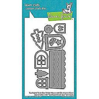 Lawn Fawn Scalloped Treat Box Winter House Add-on Dies (LF1488)