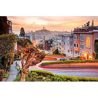 Wallpaper Mural Lombard Street em San Francisco