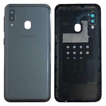 Samsung GH82-20125Un couvercle de couvercle de la batterie pour Galaxy A20E A202F - plaquette de colle Black New