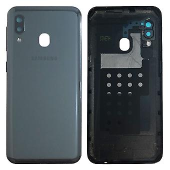 Samsung GH82-20125A paristo kannen kansi Galaxy A20E A202F + liima pad musta uusi