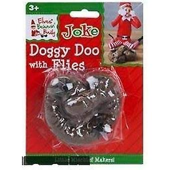 Elves Behavin Badly - Doggy Doo With Flies - Large Naughty Elf Joke