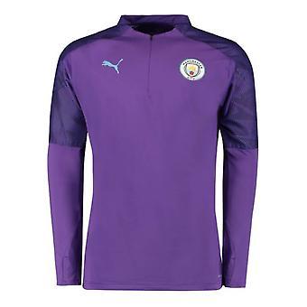 2019-2020 Manchester City Puma Half Zip Training Top (Purple)