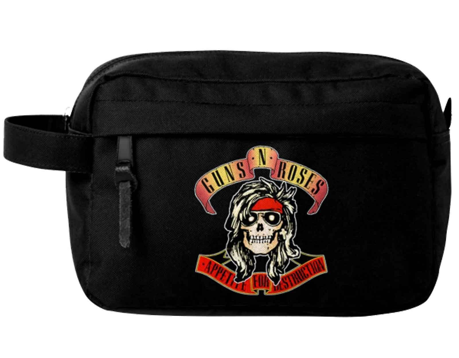 Guns N Roses tvätta Bag aptit för förstörelse band logo nya officiella svart