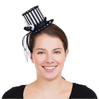 Bristol nyhed dame/damer Harlequin stribet mini top hat tilbehør