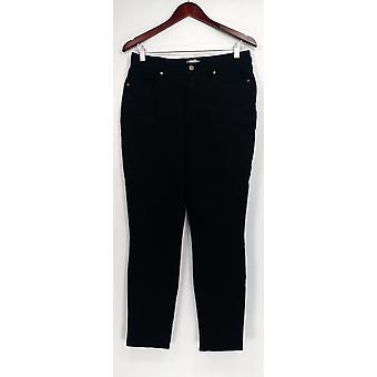 Martha Stewart Pantalon peached Twill 5-Pocket Ankle Length Black A303222