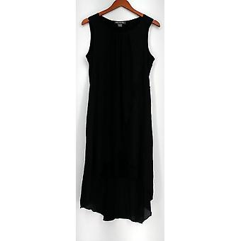 Kate & Mallory Sleeveless Mixed Media Flip Flop Dress Black Womens A434483