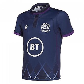 2019-2020 スコットランド 7s ホームレプリカラグビーシャツ (キッズ)