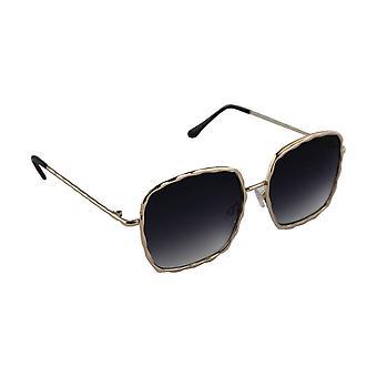 Sunglasses UV 400 Square Gold ZwartHL206_5