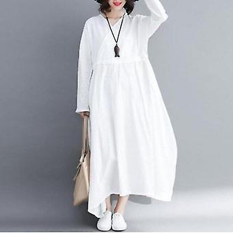 Drawstring Plus Größe langes Kleid
