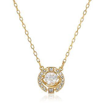 Swarovski Sparkling Dance Round Necklace - White - Gold Plating