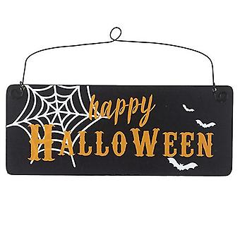 Happy Halloween Wooden Hanging Sign