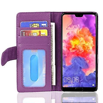 Cadorabo Case for Huawei P20 Case Cover - Phone Case with Magnetic Closure and 3 Card Slots - Case Cover Case Case Case Case Book Folding Style