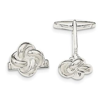 925 Sterling Silver Knot Cuff Links Jewelry Gifts for Men