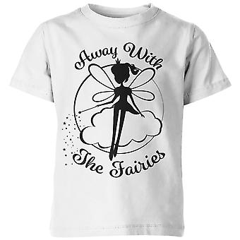 My Little Rascal Away With The Fairies Kid's White T-Shirt