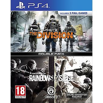 Tom Clancy ' s divisioona + Rainbow Six Siege Double Pack (PS4)