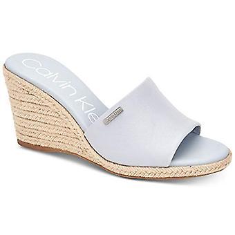 Calvin Klein Womens Britta läder öppen tå casual plattform sandaler