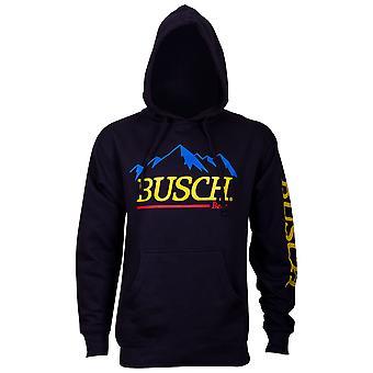 Busch Beer Mountain logo homens ' s hoodie azul