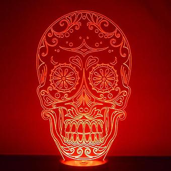 Tag der Toten Candy Skull Acryl LED Licht