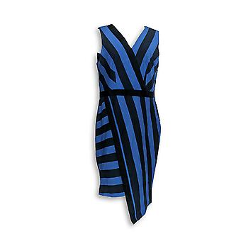G.I.L.I. fikk den elske den kjole Milano Ponte trykt stripe blå A277132