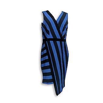 G.I.L.I. got it love it Dress Milano Ponte Printed Stripe Blue A277132