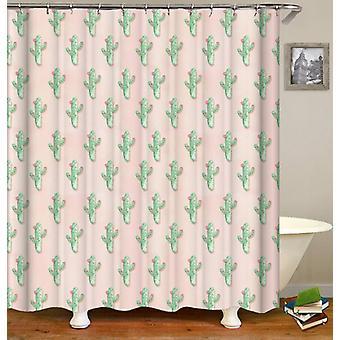 Floral Mini Cactus Shower Curtain