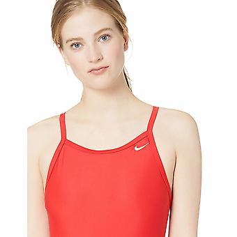 Nike Swim Women's Solid Racerback One Piece Swimsuit,, University Red, Size 32