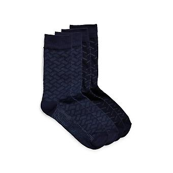 Jack & Jones Jjacherald Mens Cotton Socks 4 Pack Navy