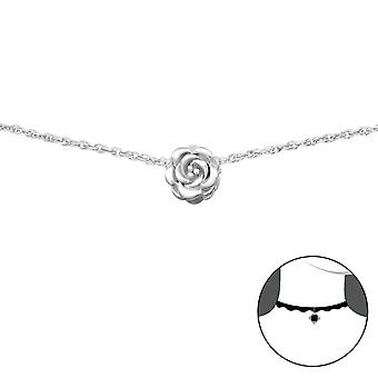 Rose - 925 Sterling Silver Chokers - W34690X