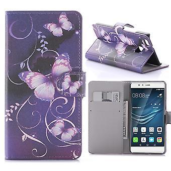 Caso para Huawei P9 Lite Patrón MariposaS Violetas