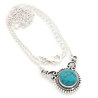Turquoise Necklace 925 Silver Sterling Silver Necklace Necklace Blue Green (MCO 10-15)