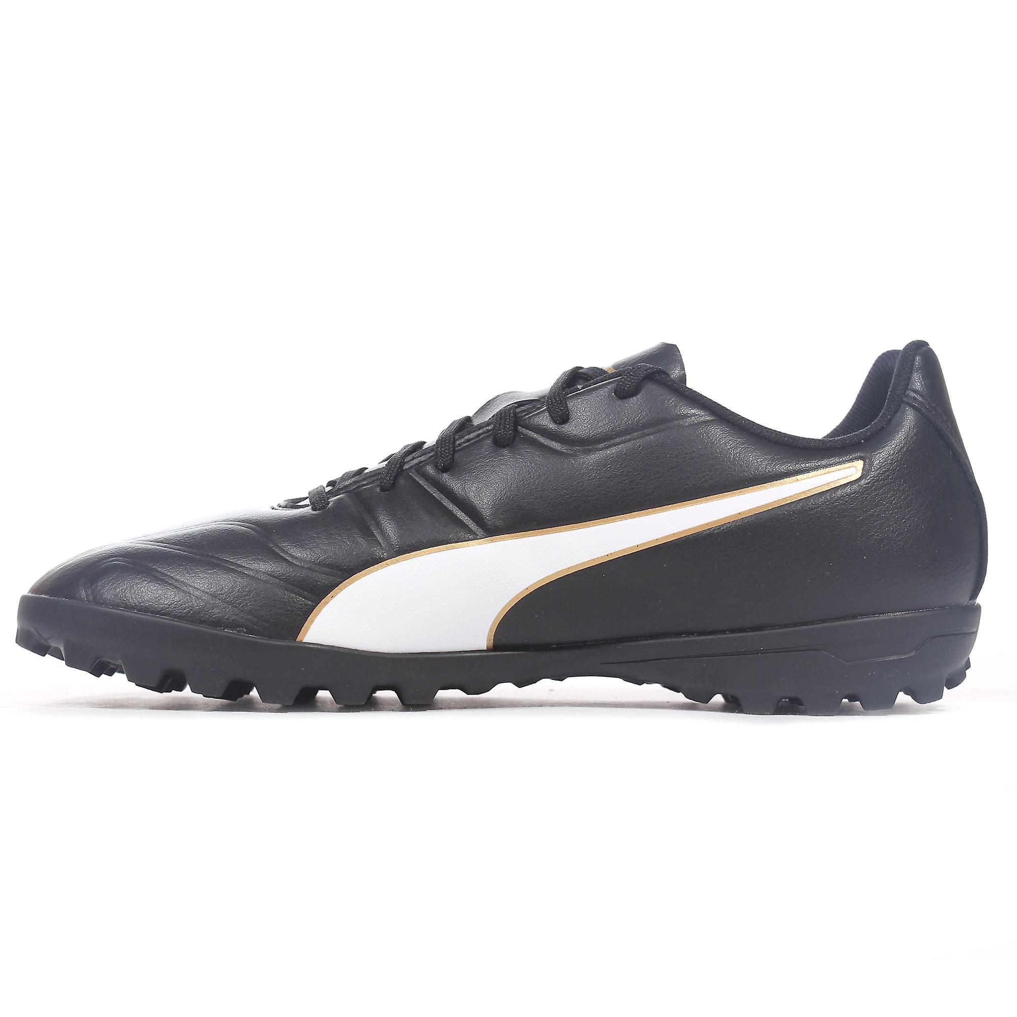 Puma Classico C II Mens Astro Turf Football Trainer Shoe Black/Gold
