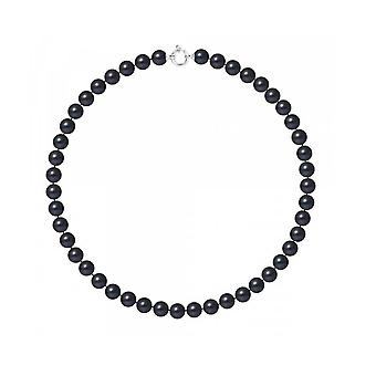 Neck collar Woman Cultured Pearls of Black Water AA 9-10 mm and White Gold Clasp 750/1000 5550