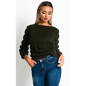 IKRUSH Femme Izzie Chunky Knitted Jumper