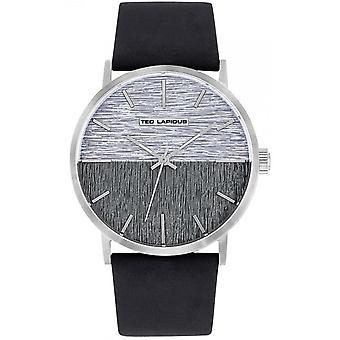 Uhr Ted Lapidus 5132901 - Stahl Leder Armband Männer
