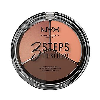 NYX PROF. meikki 3 askelta veistää kasvojen veistämällä paletti-syvä