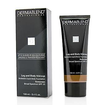 Dermablend Leg And Body Make Up Buildable Liquid Body Foundation Sunscreen Broad Spectrum Spf 25 - #deep Natural 85n - 100ml/3.4oz