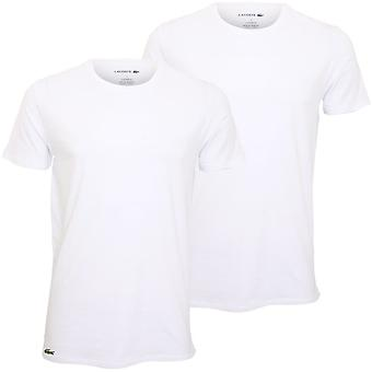 Lacoste 2-Pack Casual Stretch Cotton Crew-Neck T-Shirts, White
